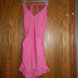 Women's Assets Spanx Pink Halter Dress/Swimsuit